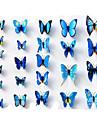 24st 3d simulering fjäril väggdekorationer konst dekaler
