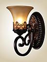 ecolight® vintage vägglampor en ljus med hartsmaterial glaskupa bäddsrum vardagsrum korridoren lampor