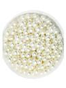 100g beadia (aprox 1000pcs) abs margele perla de 6mm fildeș din plastic de culoare margele pierde rotunde pentru a face bijuterii DIY