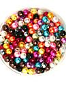 100g beadia (aprox 1000pcs) abs margele perla de 6mm din plastic de culoare margele pierde runda mixte pentru a face bijuterii DIY