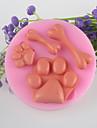 ben fötter fondant tårta choklad silikon mögel, dekoration verktyg bakeware