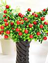 högkvalitativa konstgjorda växter ljusa simulering frukt grönsaker färg mini för dekoration
