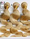 """3 st lot 12 """"-30"""" platina blekmedel blonda 613 jungfru hår indisk kroppen våg remy människohår väva buntar maskin wefts"""
