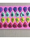 ballongen bokstäverna formade fondant tårta choklad silikon mögel, dekoration verktyg bakeware