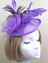 Women Feather/Net Fashion Matching Flowers/Hats With Wedding/Party Headpiece(More Colors)