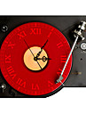 PAG®Modern 3D Effect Black Red CD Player Wall Clock 14.9*15 inch / 38*40cm