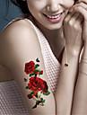 5 Tatouages Autocollants Series animales Series de fleur Non Toxique ImpermeableBebe Enfant Homme Femelle Femme Adulte Male Adolescent