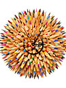 PAG®Modern 3D Effect Color Pencils Wall Clock 15.75*15.75 inch / 40*40cm
