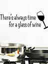 väggdekorationer väggdekaler stil ett glas vin engelska ord&citerar pvc väggdekorationer