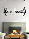väggdekorationer väggdekaler stil kärlek är vackra engelska ord&citerar pvc väggdekorationer