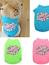 Pisici / Câini Tricou Verde / Albastru / Roz Îmbrăcăminte Câini Vara Literă & Număr Nuntă / Cosplay