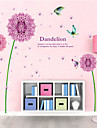 Wall Stickers Wall Decals Style Purple Dandelion Butterfly PVC Wall Stickers