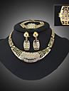 Vintage/Fest/Kontor/Ledigt - Halsband/Örhänge/Armband/Ring ( Legering/Kubisk zirkonia/Ädelsten och kristall )till Dam