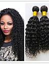 3pcs / lot pas cher bresilien afro crepus extension de cheveux boucles vierge trame de cheveux humains tisse verse&enchevetrement