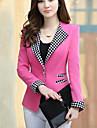Women\'s Casual Work Medium Long Sleeve Regular Blazer (Polyester)