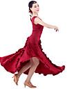 High-quality Milk Fiber with Ruffles Ballroom Dance Dresses for Women\'s Performance/Training  (More Colors)