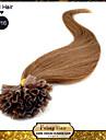 u Astuce ongles pre-colle fusion des extensions de cheveux pointe de keratine de l\'ongle vierge bresilienne de cheveux de 0,5 g / l 100 g