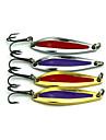 Hengjia 4pcs Spoon Metal Fishing Lures  Spinner Baits 5.5g