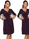 Robes ( Coton melange ) Informel/Imprime Col V a Manche 3/4 pour Femme