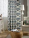 land curtains® en panel geometri bomull linne utskrift gardin drapera