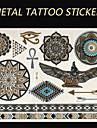1 - Series bijoux/Series de totem/Autres - Dore/Argente - Motif - 145mm*200mm - en Papier - Tatouages Autocollants - Brand New -