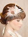 handgjorda bröllops fjäder hår klipp fascinator stycken Fascinators 014