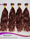 """4 st hel 12 """"-30"""" brasilianska Naturlig våg jungfru hårwefts obearbetade chokladbrun människohår väva trasselfri"""
