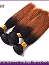 "4Pcs/Lot 10""-26"" Ombre Human Hair Weaves T1B/30 Two Tone Color Peruvian Virgin Hair Straight  Remy Hair Best Quality"