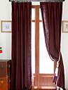 Två paneler Fönster Behandling Europeisk / Designer / Rustik / Modern / Nyklassisistisk , Solid Living Room Linne/Bomull blend Material
