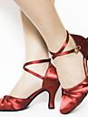 Chaussures de danse (Noir/Violet/Rouge/Chocolat) - Personnalisable - Talons personnalises - Satin - Moderne