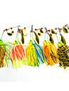 """5 pcs Spinnerbaits leurres de peche Leurre Buzzbait & Spinnerbait Vert Orange Jaune Rouge Bleu g/Once mm/2-3/4"""" pouce,Plastique dur Metal"""