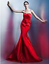 ts couture® formell kjole trompet / havfrue kjaereste fotsid sateng med sloeyfe (r) / side drapering