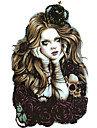 2016 hög kvalitet kreativt sätt vattentät krona långt hår skelett docka