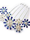 Femme Alliage Casque-Mariage / Occasion speciale Peigne 1 Piece Pourpre / Bleu / Rose Fleur