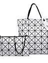 Femme Polyurethane Formel / Decontracte / Bureau & Travail / Shopping Sac a Bandouliere / Cabas Blanc / Violet / Argent / Noir / Bourgogne