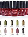 1PCS Sequins UV Color Gel Nail Polish No.37-48 Soak-off(10ml,Assorted Colors)