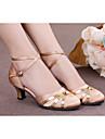 Chaussures de danse (Noir/Bleu/Rouge/Or/Autre) - Non personnalisable - Talon Large - Satin/Similicuir/Cuir verni/Synthetic - Moderne
