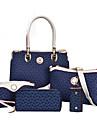 Dam PU Formell / Ledig / Shopping / Kontor Axelremsväska / Stor väska / bag set Vit / Rosa / Blå / Brun