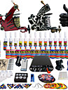 Solong tatuering komplett tatuering kit 2 pro maskiner 28 bläck strömförsörjnings nål grepp