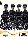 4st brasilianska Nadi curl hårknippena väver kolsvart 100% obearbetat brasiliansk weft