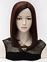 högsta kvalitet nya mode kvinnor långa raka u del bobo hår svart höjdpunkter röd lolita puracas syntetiska kvinnor peruk