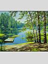 oljemålning modern landskap, dukmaterial med sträckt ram redo att hänga storlek: 60 * 90 cm.