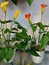 Une succursale Plastique Calla Lily Fleur de Table Fleurs artificielles 45CM*15CM*15CM