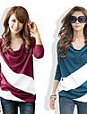 T-Shirts ( Coton ) Informel Rond a Manches longues pour Femme