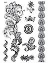1 - Autres - Noir - Motif - 21*14.8cm - en Papier - Tatouages Autocollants - Bluezoo - Homme/Girl/Femme/Adulte/Adolescent