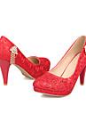 Damskor - Glitter - Stilettklack - Klack / Rund tå - högklackad - Formellt - Röd / Silverfärgad / Guldfärgad