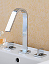 American Standard Widespread Two Handles Three Holes in Chrome Bathroom Sink Faucet