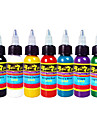 solong Tattoo Ink 7 färger set 1oz 30 ml / flaska tatuering pigment kit