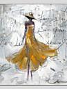 Peint a la main PersonnageModern / Style europeen Un Panneau Toile Peinture a l\'huile Hang-peint For Decoration d\'interieur