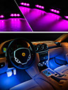 4x charge de la voiture 12v lueur 3LED lampe interieure de la lumiere de l\'atmosphere 4in1 decorative
